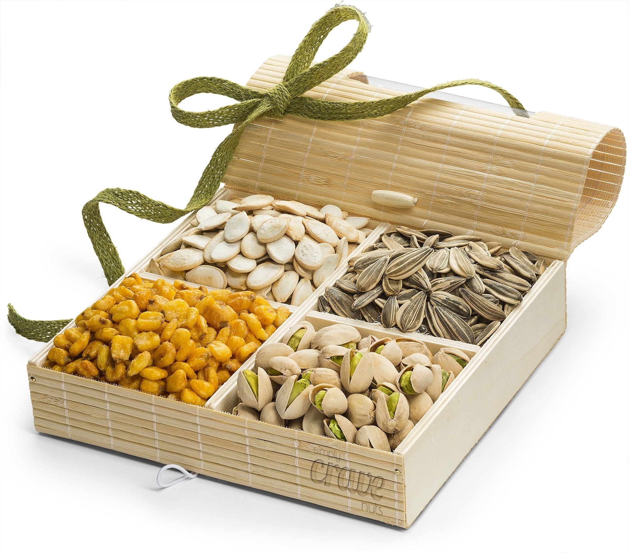Simply Crave Nut Gift Baskets, Gourmet Food Gift, Nuts Tray Gift Assortment, Nuts & Seeds (Large)
