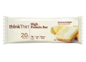 Think Thin High Protein Bars, Lemon Delight, 2.1 oz [10 Pack]