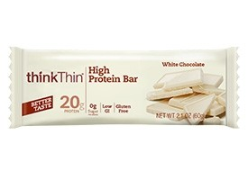 Think Thin High Protein Bars, White Chocolate, 2.1 oz [10 Pack]