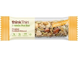 Think Thin Protein Nut Bars, Original Roasted Almonds, 1.41 oz [10 Pack]