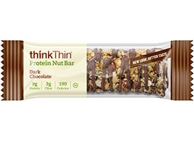 Think Thin Protein Nut Bars, Dark Chocolate, 1.41 oz [10 Pack]