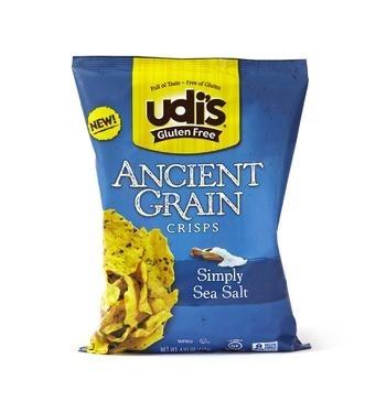 Udi's Gluten Free Ancient Grain Crisps, Simply Salt, 4.93 Oz (12 Pack)
