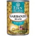 Eden Gluten Free Organic Garbanzo Beans (Chickpeas), 15 Oz. Can (12 Pack)