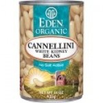 Eden Gluten Free Organic Cannellini (White Kidney Beans), 15 Oz. Can (12 Pack)