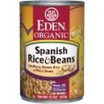 Eden Gluten Free Organic Spanish Rice & Pinto Beans, 15 Oz. Can (12 Pack)