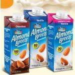 NEW!! Almond Breeze Gluten Free Almond Milk, Vanilla, Unsweetened, 8 Oz (24 Pack)