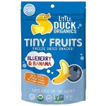 Little Duck Organics Gluten Free Tiny Fruit, Blueberry & Banana, 1 oz. Pack (6 Packs)
