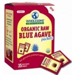Wholesome Sweeteners Organic Raw Blue Agave Sugar Packets, Sugar Substitute (6 Cartons)