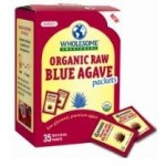 Wholesome Sweeteners, Gluten Free Organic Raw Blue Agave Sugar Packets, .25 Oz 35 Count (Case of 2)