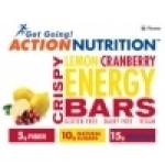 Action Nutrition Gluten Free Energy Bar: Crispy Lemon, 5 Pack (Case of 12)