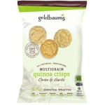 Goldbaum's Gluten Free Multigrain Quinoa Crisps, Onion Garlic, Snack Bag (Case of 36)