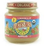 Earth's Best, Stage #2, Gluten Free Second Fruits Strained Apples, 4 Oz Jar (Case of 12)