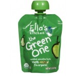 Ella's Kitchen Gluten Free Organic Smoothie Baby Food -The Green One, 2.5 Oz (6 Pouches)