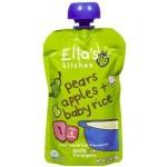 Ella's Kitchen Gluten Free Organic Baby Food - Pear Apple & Baby Rice, 3.5 Oz (6 Pouches)