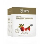 22 Days Nutrition Gluten Free Plant Protein Powder, Organic, Strawberry, .85 oz (Case of 12)