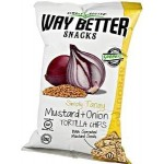 Way Better Snacks, Gluten Free Mustard & Onion Tortilla Chips, 5.5 oz bag (12 Pack)