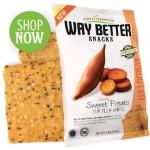 Way Better Snacks, Gluten Free Sweet Potato Tortilla Chips, 1.25 oz bag (Case of 12)