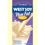 Westsoy Gluten Free NonFat Soymilk, Vanilla, 32 Oz. (12 Pack)