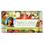 Wai Lana Raw Gluten Free Fruit & Nut Bar, Autumn Apple, 2 Oz Pack (Case of 12)