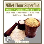 Authentic Foods Gluten Free Superfine Millet Flour, 3 lbs