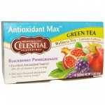 Celestial Seasonings Antioxidant Max Green Tea Blackberry Pomegranate (6 Boxes)