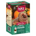Katz Gluten Free Pumpkin Pie Spice Glazed Donuts [Case of 6]