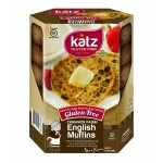 Katz Gluten Free Cinnamon Raisin English Muffins, 8.5 Oz, Case of 6