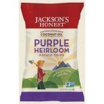 Jackson's Gluten Free Honest Purple Heirloom Potato Chips Made with Coconut Oil, 5 Oz (6 Pack)