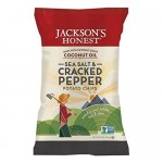 Jackson's Gluten Free Honest Organic Potato Chips Made with Coconut Oil, Sea Salt Cracked Pepper, 5 Oz (12 Pack)