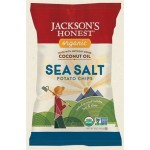 Jackson's Gluten Free Honest Organic Potato Chips Made with Coconut Oil, Sea Salt, 1.2 Oz (36 Pack)