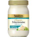 Spectrum Naturals Organic Omega-3 Gluten Free Mayonnaise with Flax Oil, 16 Oz [3 Pack]