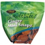 Pamela's Gluten Free SimpleBites, Ginger Snapz Mini Cookies, 7 Oz [Case of 6]