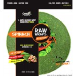 Raw Gluten Free Wraps, Spinach [Case of 6]