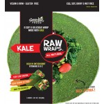 Raw Gluten Free Wraps, Kale [Case of 6]