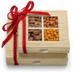 Simply Crave Nuts Gift Basket Holiday, Holiday Gift Tray, Gourmet Food Gift, Nuts Tray Gift Assortment, Holiday Double Stacker