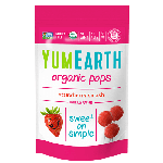 Yummy Earth, Gluten Free Organic Strawberry Pops, 3 Oz Pouch (Pack of 6)