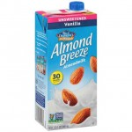 Almond Breeze Gluten Free Almond Milk, Vanilla, Unsweetened, 32 Oz (12 Pack)