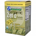 Wholesome Sweeteners Gluten Free Organic Zero, Sugar Substitute, Sugar Packets (6 Cartons)
