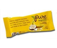 Pure Organic Banana Coconut Fruit & Nut Bar, 1.7 Oz. Bars ( Pack of 12)