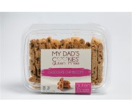 My Dad's Gluten Free Mini Pack Cookies, Chocolate Chip Biscotti (6 Pack)