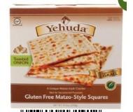 Yehuda Gluten Free Matzo Squares, Toasted Onion, 10.5 Oz Box (Case of 12)
