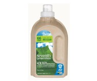 Seventh Generation Natural 4X Concentrated Liquid Laundry, Free and Clear, 66 loads, 50 Fl Oz [Case of 6]
