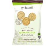 Goldbaum's Multigrain Quinoa Crisps, Onion Garlic, 3 Oz. (Case of 12)