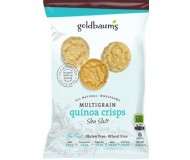 Goldbaum's Multigrain Quinoa Crisps, Sea Salt, Snack Bag (Case of 36)