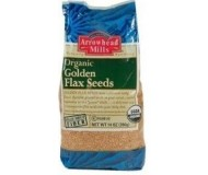 Arrowhead Mills Organic Golden Flax Seed, 1 Lb. Bag (6 Bags)