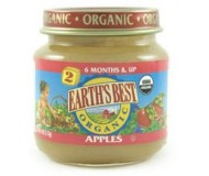 Earth's Best Baby Food Jar, Strained Apples