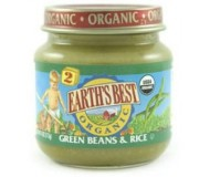 Earth's Best Baby Food Jar, Strained Green Beans and Rice