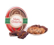 Merry Christmas! Red Oval Gluten Free Gift Tin