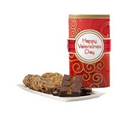 Happy Valentine's Day! Red Tall Gluten Free Gift Tin