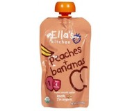 Ella's Kitchen Organic Baby Food - Peach & Banana, 3.5 Oz (6 Pouches)